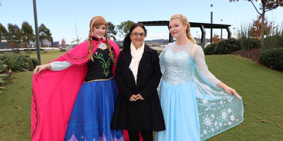 Ice Queen and Princess with Mayor